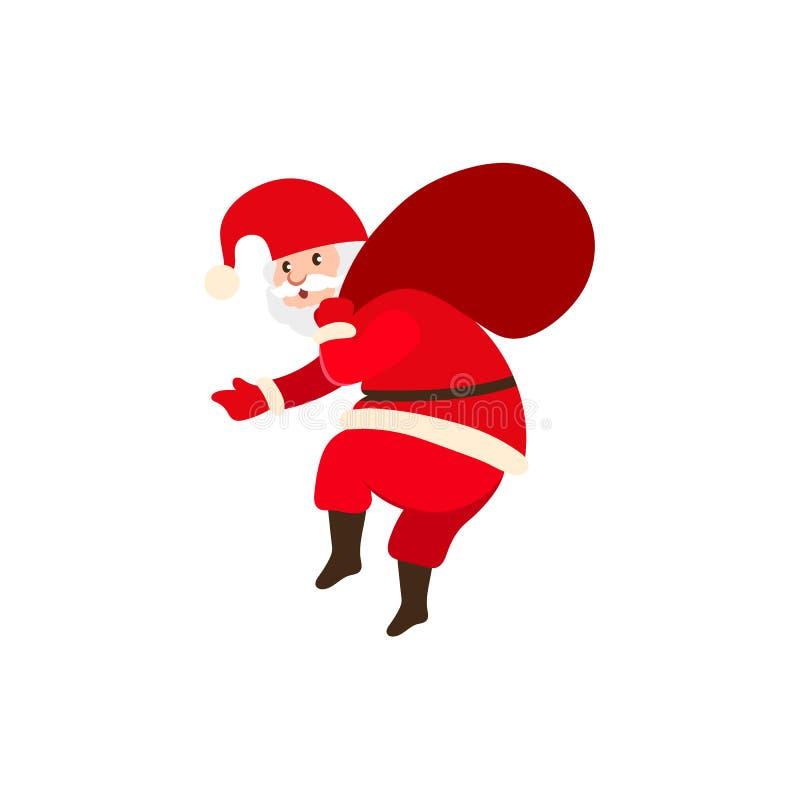 Niegrzeczny Święty Mikołaj niesie Bożenarodzeniowe teraźniejszość ilustracji