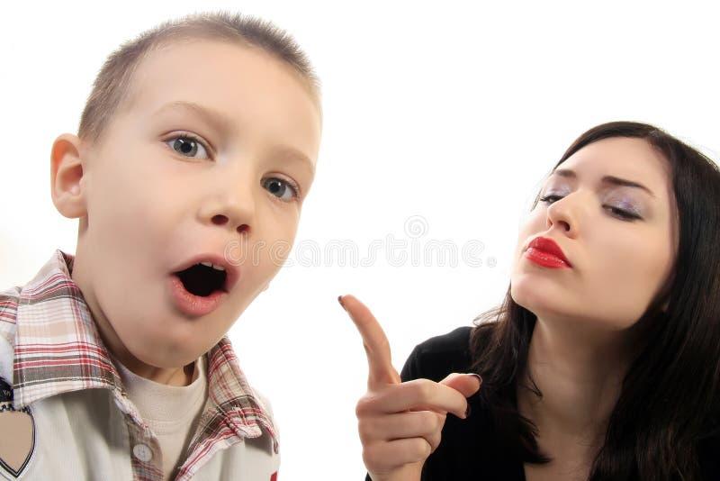 niegrzeczny chłopiec zdjęcie stock
