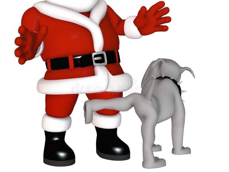niegrzeczny lista kolec s Santa ilustracja wektor