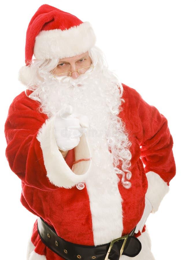niegrzeczny Santa ty fotografia royalty free