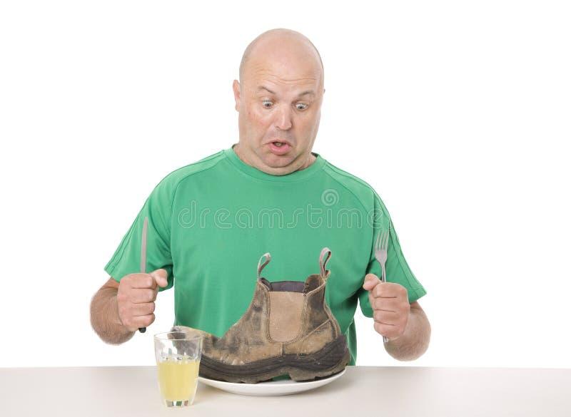 Niegustowny jedzenie na talerzu zdjęcie stock