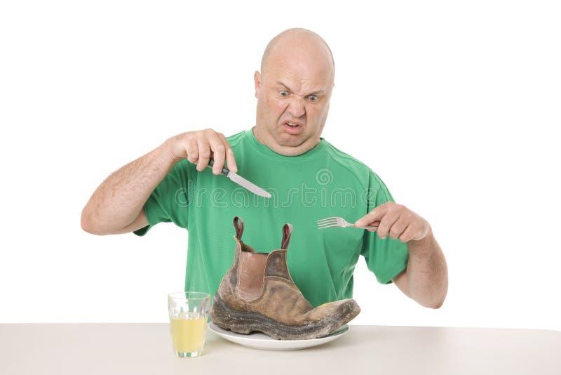 Niegustowny jedzenie na talerzu zdjęcie royalty free