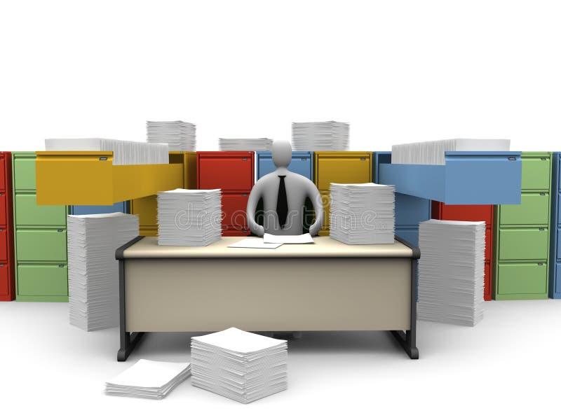 niekończące się chwilę biura papierkowa robota ilustracja wektor