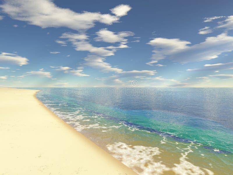 niekończące się na plaży ilustracja wektor