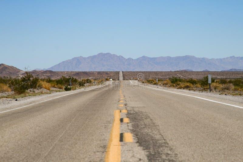 Niekończący się drogowy Ameryka zdjęcia stock