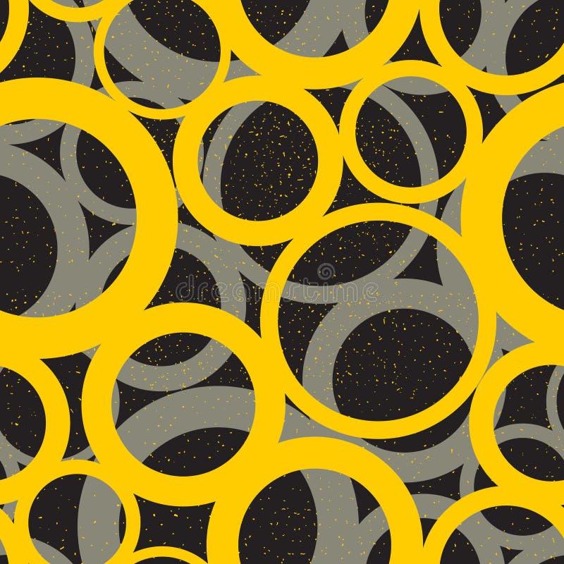 Niekończący się geometryczny wzór z okręgami ilustracja wektor