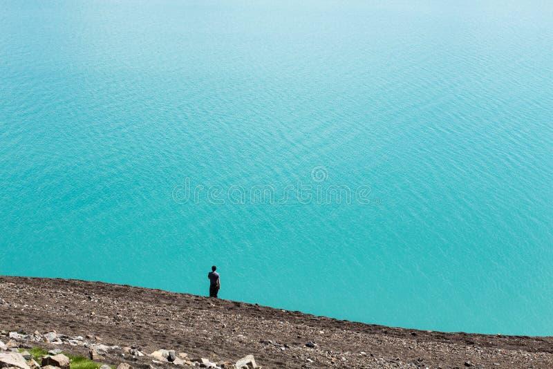 Niekończący się jezioro fotografia stock