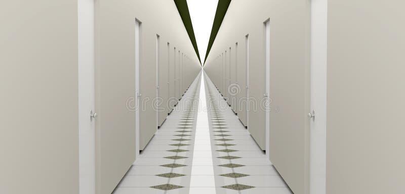 Niekończący się korytarz royalty ilustracja