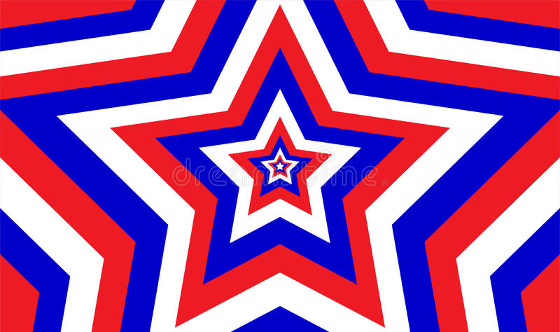 Niekończący się Patriotyczny Gwiazdowy wzór ilustracja wektor
