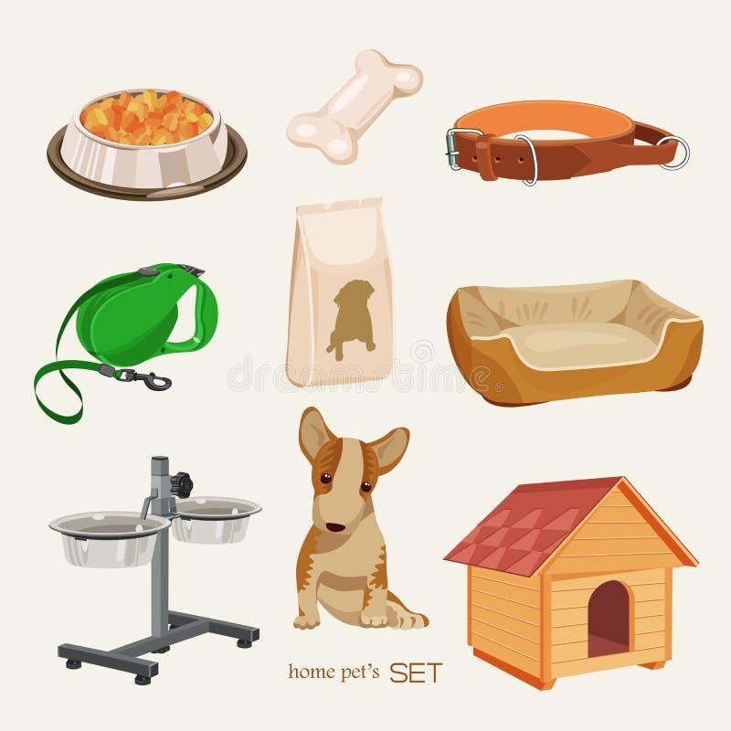 Niektóre śliczny wektorowy materiał dla zwierząt domowych royalty ilustracja