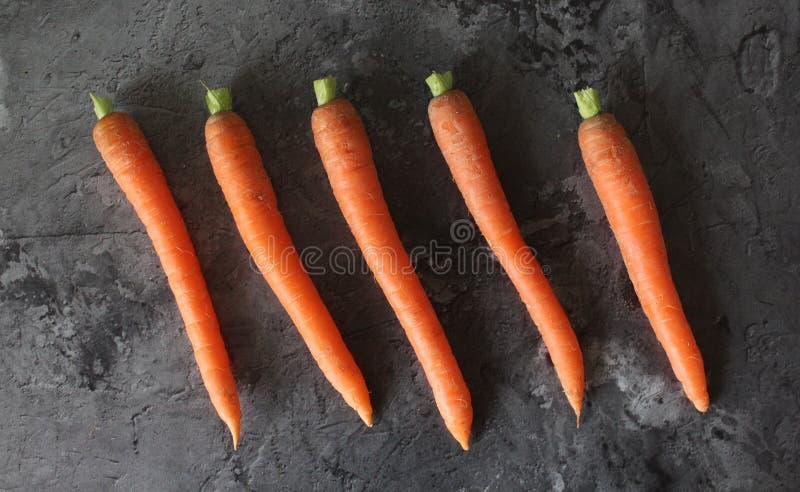 Niektóre świeża marchewka zdjęcie royalty free