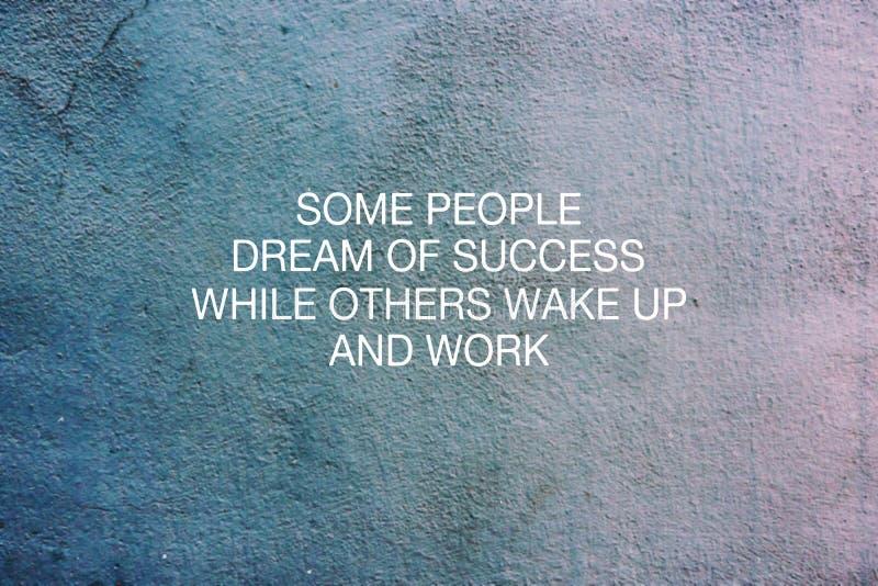 Niektóre ludzie marzą sukces podczas gdy inny budzą się i pracują ilustracja wektor