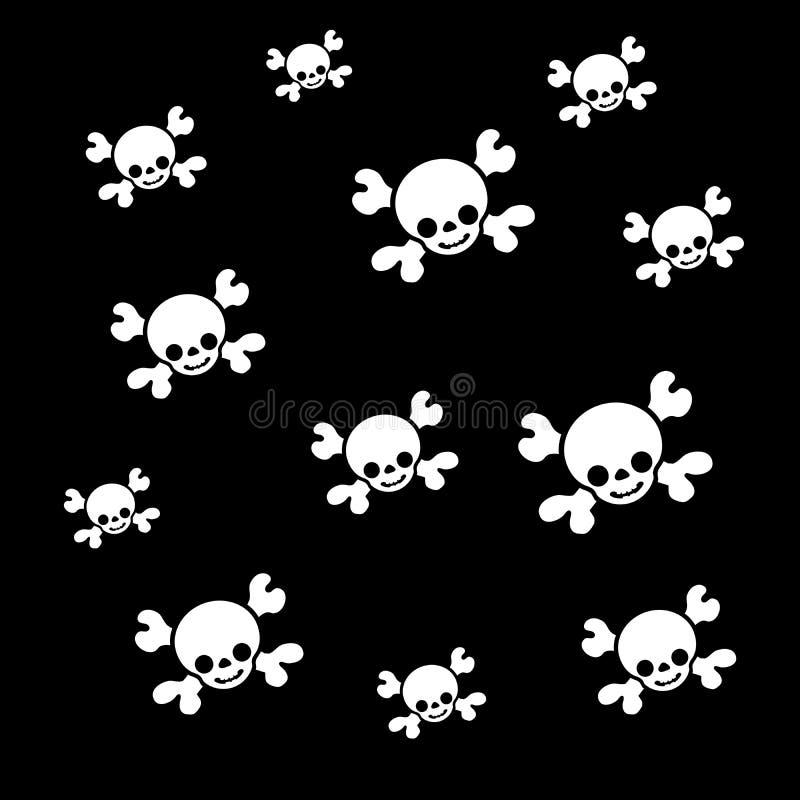 Nielegalnie kopiować czaszki teksturę ilustracja wektor