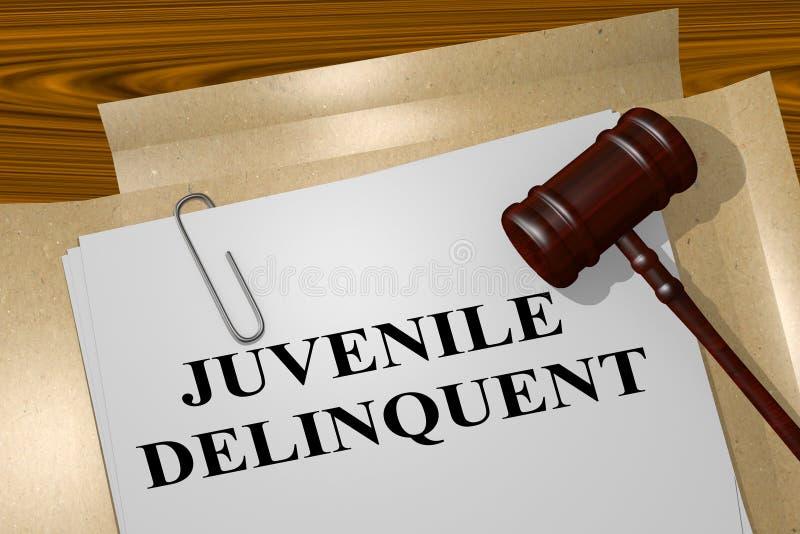 Nieletni delikwent - legalny pojęcie ilustracji