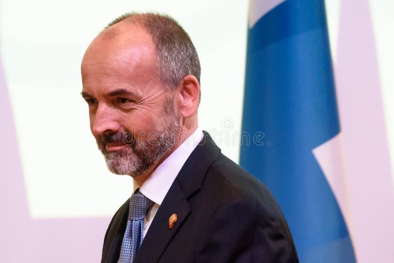 Niels Engelschion, diretor-geral para casos europeus de Noruega foto de stock