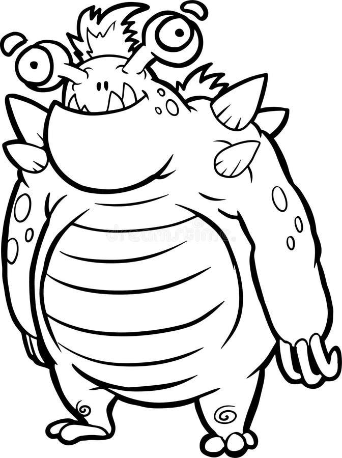 Niemądra Halloweenowa potwór sztuka książkowa kolorowa kolorystyki grafiki ilustracja royalty ilustracja