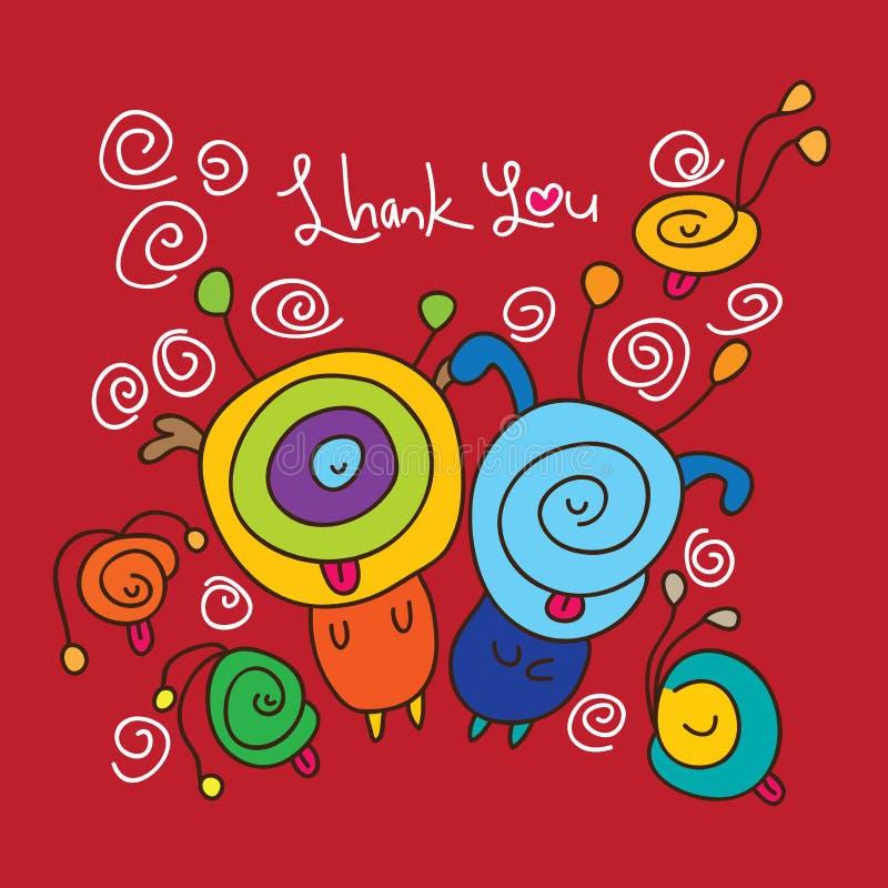 Niemądry dziękuje ciebie kochać czerwień royalty ilustracja