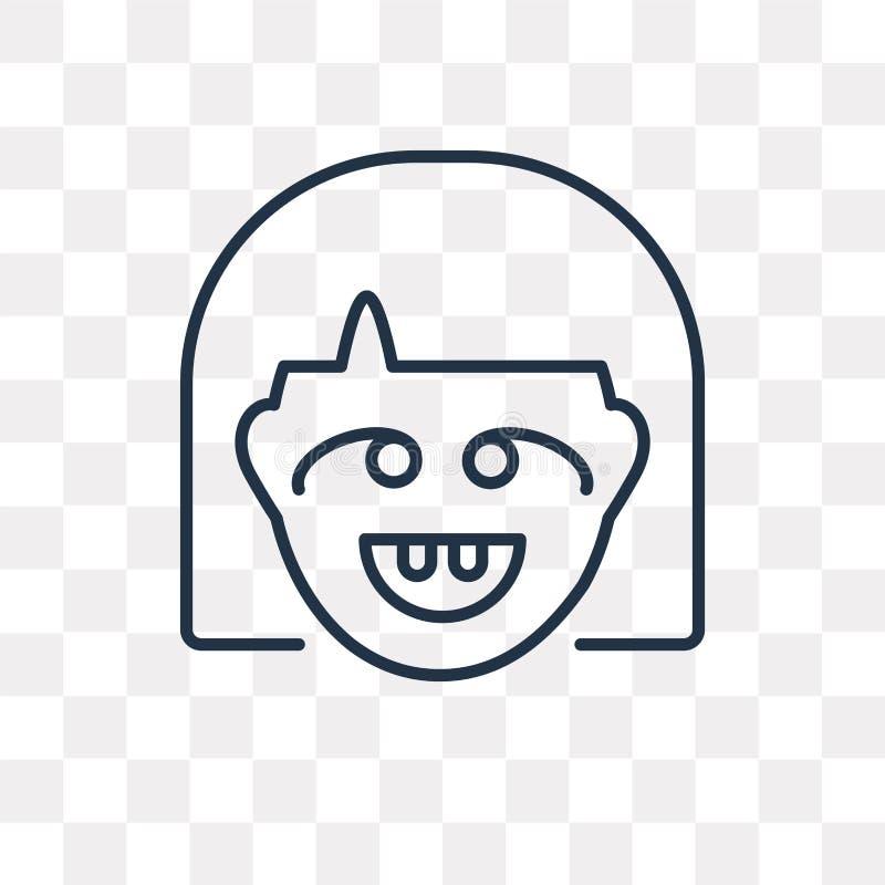 Niema wektorowa ikona odizolowywająca na przejrzystym tle, liniowy Niemy ilustracja wektor
