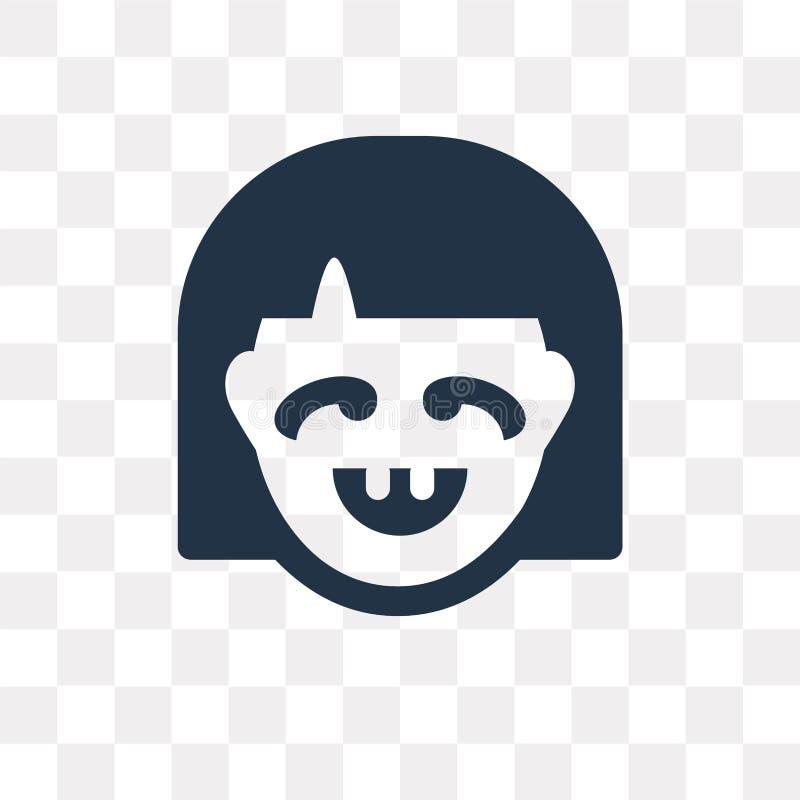 Niema wektorowa ikona odizolowywająca na przejrzystym tle, Niemy trans ilustracja wektor