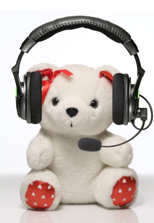 niemand Nahaufnahme von Haupttelefonen mit Spielzeug auf weißem Hintergrund lizenzfreie stockfotos