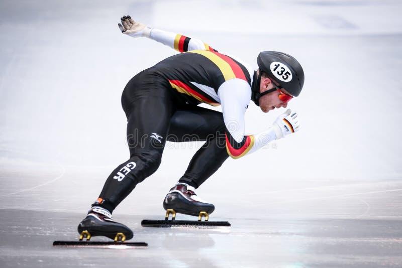 Niemcy łyżwiarka podczas puchar świata zdjęcia stock