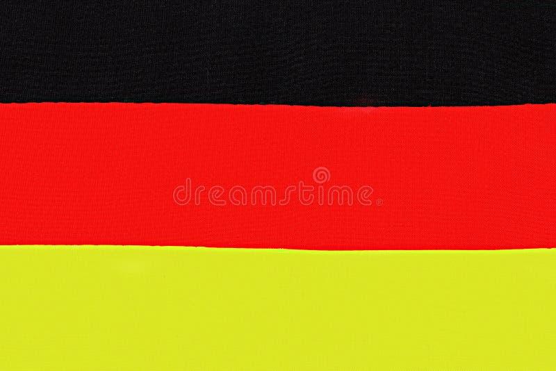 niemcy bandery Zakończenie tam jest tkaniny tekstura zdjęcie royalty free