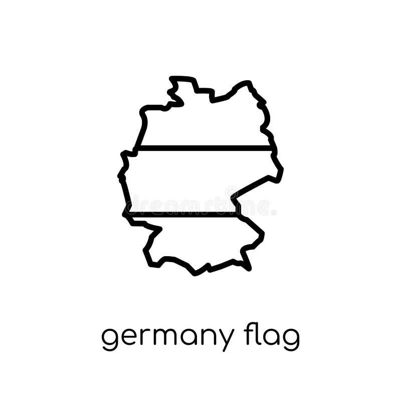 Niemcy flaga ikona  ilustracja wektor