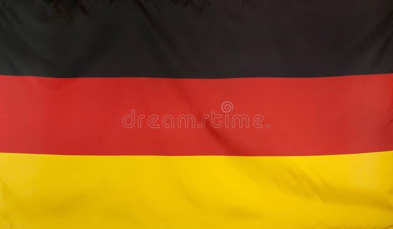 Niemcy flaga istnej tkaniny bezszwowy zakończenie up obrazy royalty free