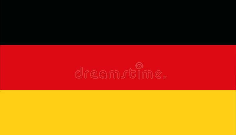 Niemcy flaga wektor ilustracja wektor