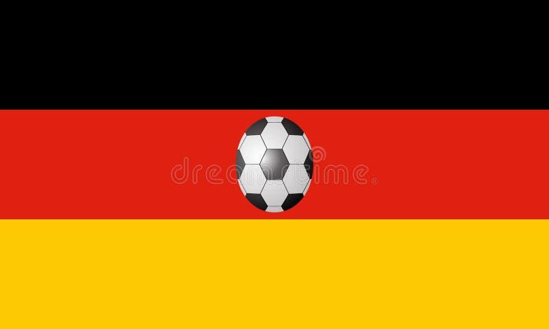 Niemcy flaga z piłki nożnej piłką fotografia stock