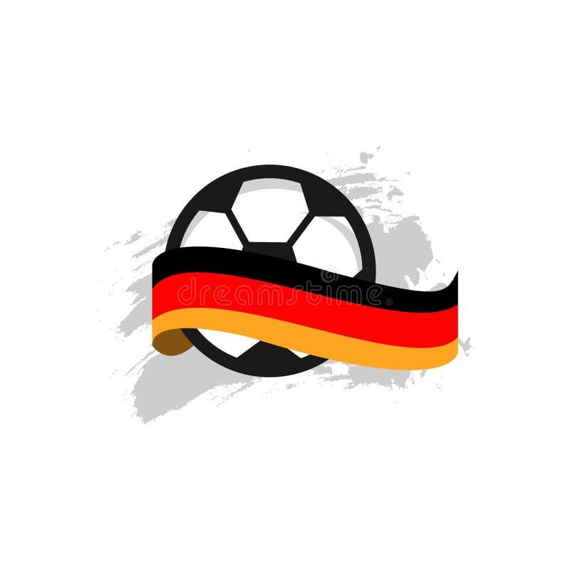 Niemcy futbolu klubu szablonu projekta Wektorowa ilustracja ilustracji