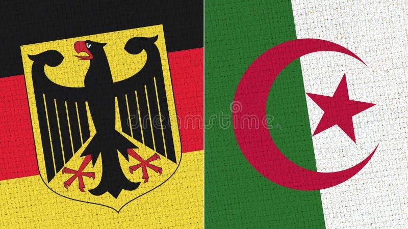 Niemcy i Algieria flaga zdjęcie royalty free