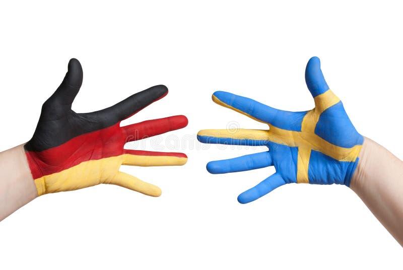 Niemcy i Sweden zdjęcia stock