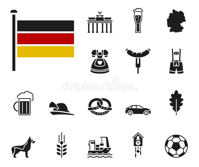 Niemcy ikony set ilustracji