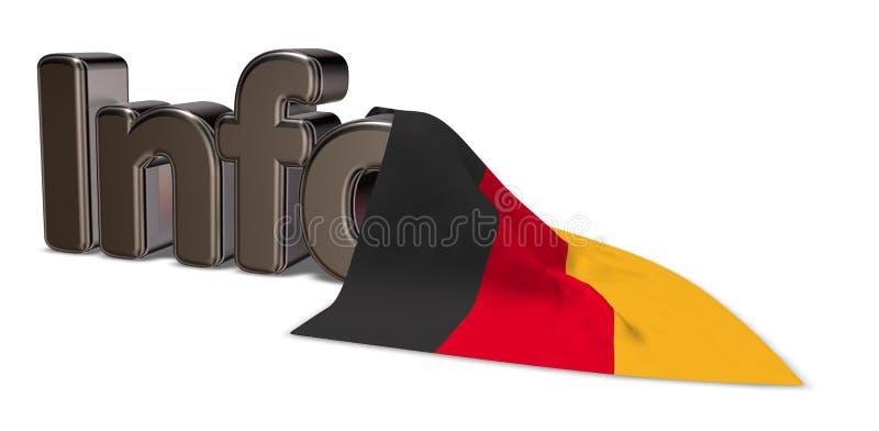 Niemcy informacja ilustracja wektor