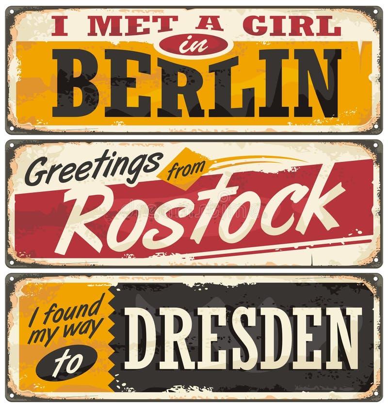 Niemcy miasta i podróży miejsca przeznaczenia ilustracja wektor