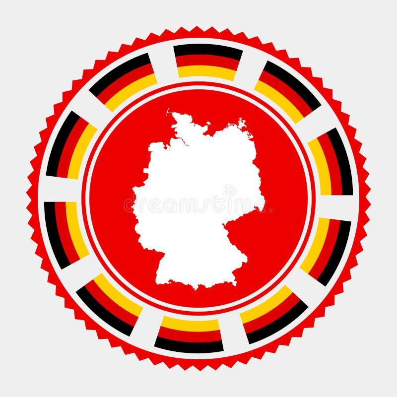 Niemcy mieszkania znaczek royalty ilustracja