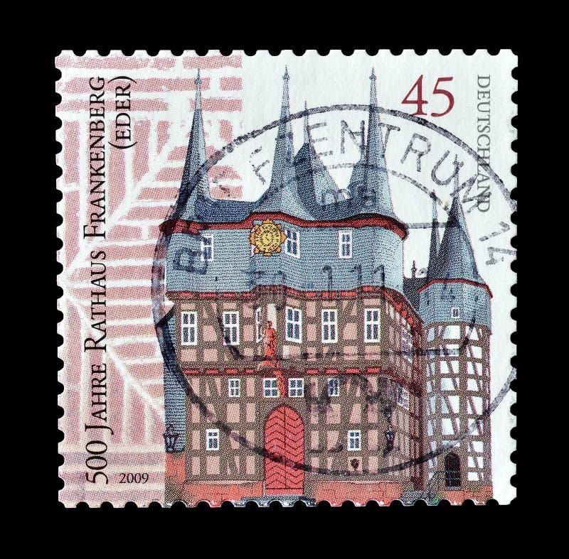 Niemcy na znaczkach pocztowych zdjęcia stock