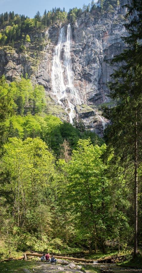 Niemcy ` s wysoka siklawa w pięknym berchtesgaden kraju fotografia stock