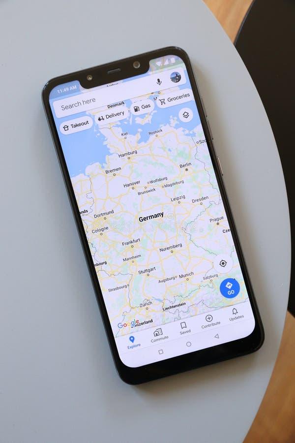 Niemcy w Google Maps fotografia royalty free