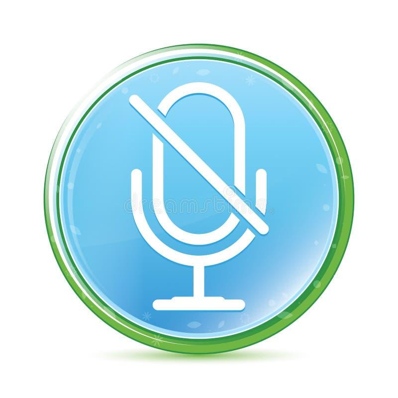 Niemego mikrofon ikony naturalnego aqua round cyan błękitny guzik ilustracja wektor