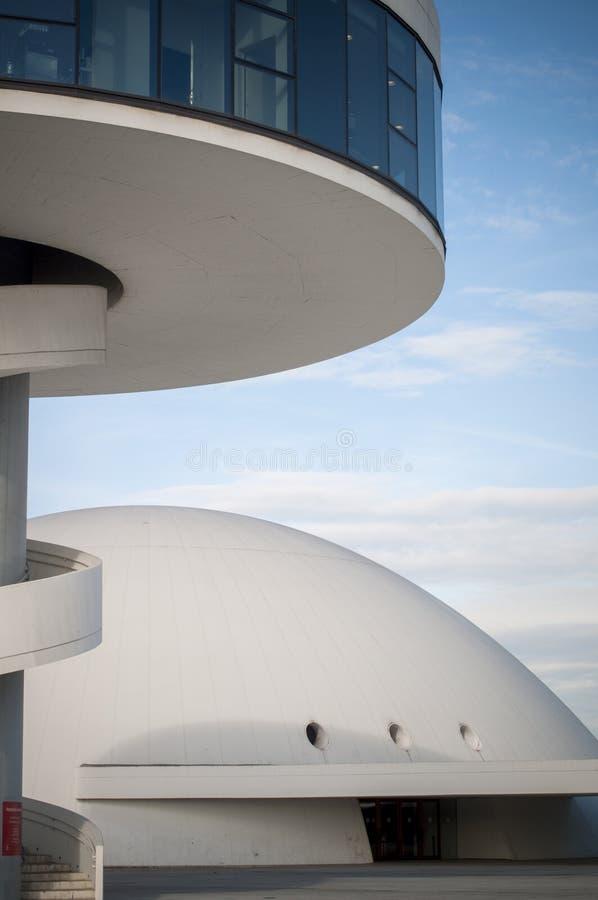 Niemeyer, Aviles, as Astúrias imagem de stock