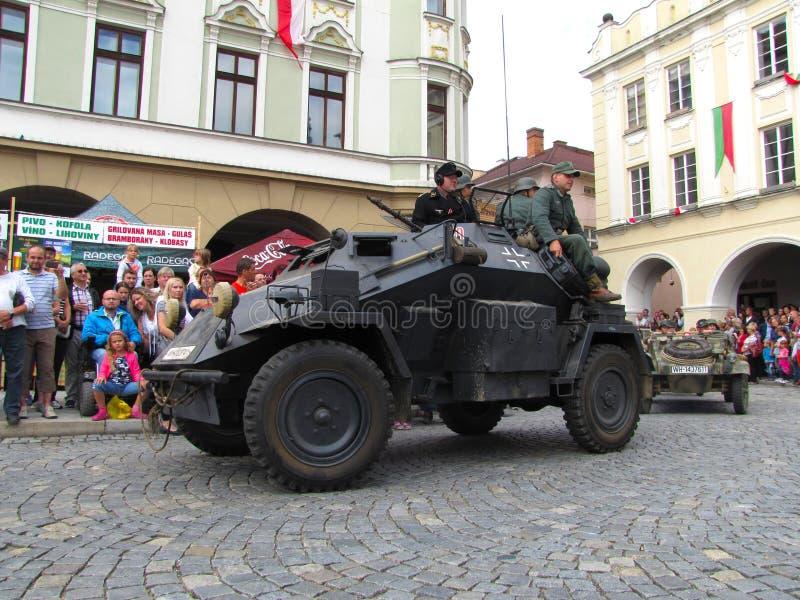 Niemiec światło opancerzał wywiadowczego pojazd SdKfz 222 od Seco fotografia stock