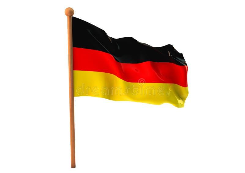Niemiec chorągwiany 3d ilustracja wektor