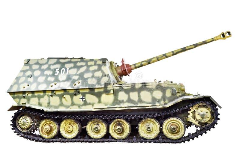 Niemiec ciężki cysternowy niszczyciel Ferdinand odizolowywał zdjęcia stock