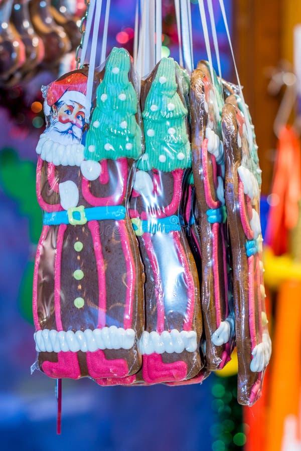Niemiec cukierku targowy kram przy Bożenarodzeniowym jarmarkiem obraz royalty free