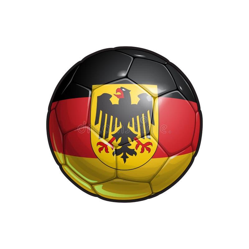 Niemiec Eagle Chorągwiany futbol - piłki nożnej piłka ilustracja wektor