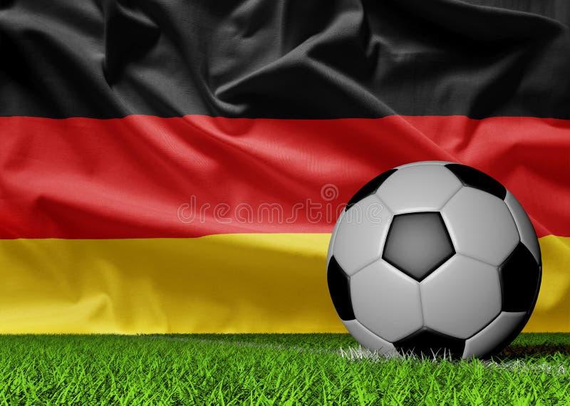 Niemiec flaga i piłki nożnej piłka obrazy royalty free