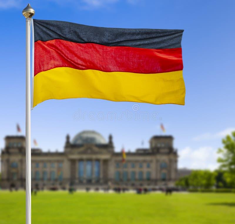 Niemiec flaga w Berlin zdjęcie stock