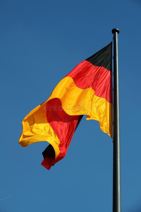Niemiec flaga w wiatrze obraz royalty free